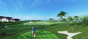 sân golf hiện đại tại Condotel FLC Hạ Long