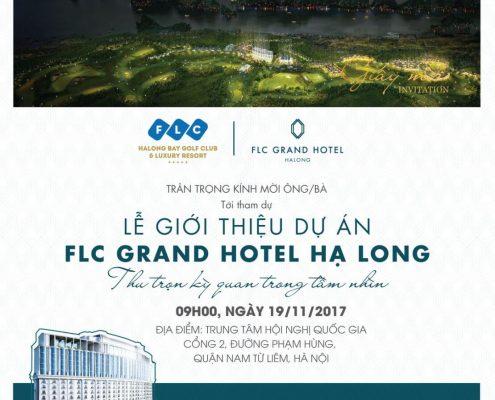Thư mời sự kiện FLC Hạ Long