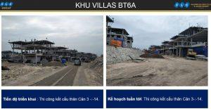 Khu villas BT6A ngày 06/11